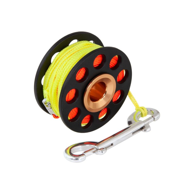 Spool 30 m with spinner and SS 100 mm snap T03186-2 opti
